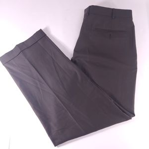 Ermenegildo Zegna Dark Brown Pleated Cuffed Pants